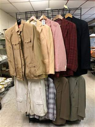 LOT OF 10 SPORT COATS & 1 SUIT FROM NEW YORK CITY