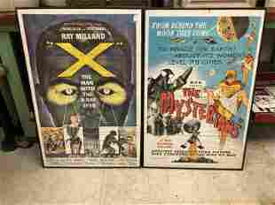 (2) SCI FI RELATED ONE SHEET MOVIE POSTERS, IN BLACK
