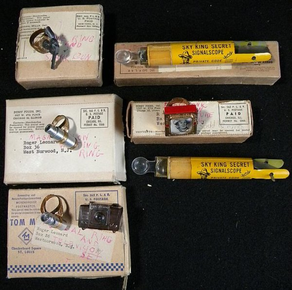 16: LOT OLD TV STAR PREMIUM RINGS WHISTLES AND OTHERS I