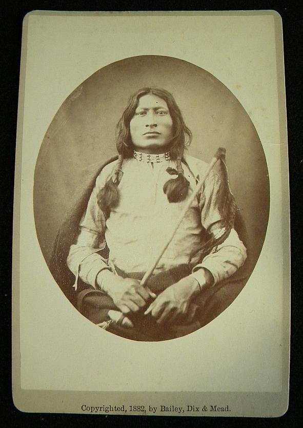 19: CABINET CARD SIOUX WARRIOR ONE BULL, THE NEPHEW OF
