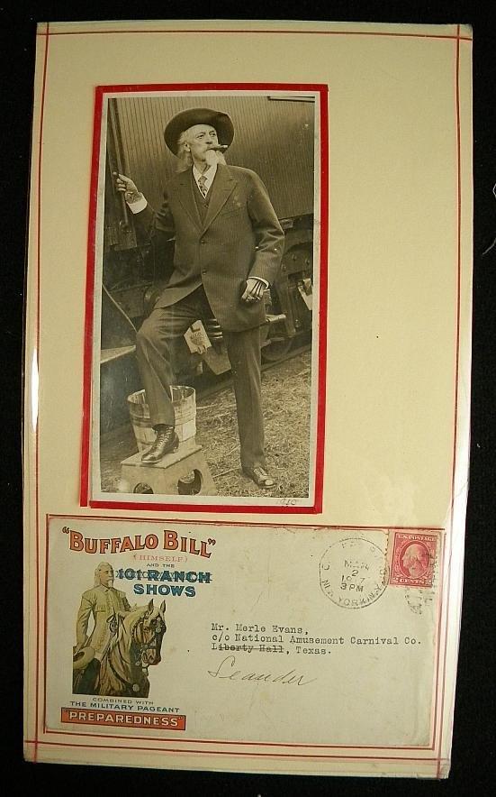 23: BUFFALO BILL PHOTOGRAPH & ENVELOPE POSTMARKED 1917.