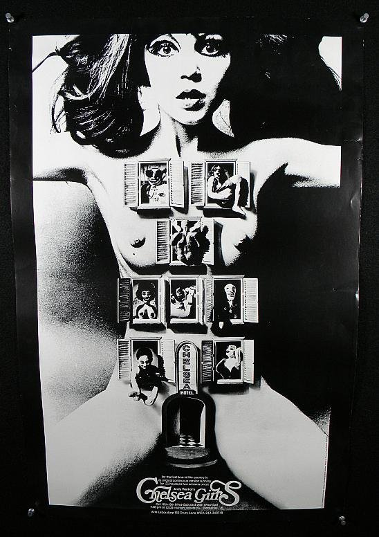 211: ANDY WARHOL CHELSEA GIRLS 1970 POSTER FOR THE CONT