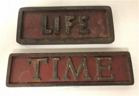 (2) LIFE & TIME MAGAZINE OLD NEWSTAND PAPERWEIGHTS, IN