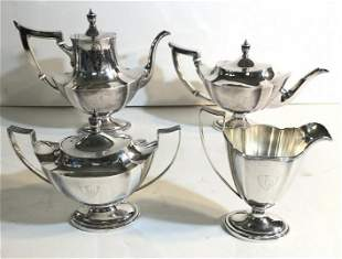 GORHAM STERLING SILVER 4 PC. TEA SET INCLUDES COFFEE