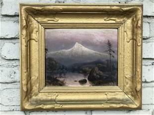 HARRY C BEST (1863-1936) O/B WESTERN LANDSCAPE, WELL