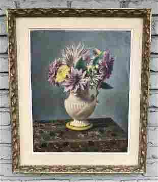 EUGENE SPEICHER (1883-1962) O/C FLORAL STILL LIFE , IN