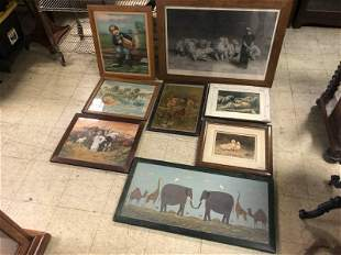 (8) ANIMAL PRINTS, MOST VICTORIAN ERA, FROM PROVIDENCE