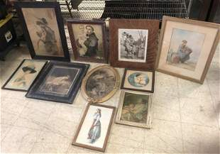 (9) FRAMED PRINTS & (1) WATERCOLOR FROM PROVIDENCE