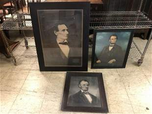 (3) OLDER ABRAHAM LINCOLN PRINTS, FROM ATTORNEY'S