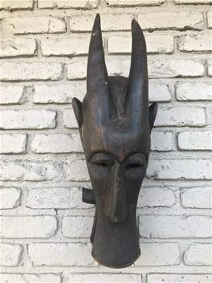 OLD WEST AFRICAN BUSH COW MASK, FROM HUDSON VALLEY