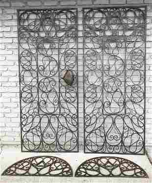 GREAT PR CUSTOM IRON DOOR INSERTS W/HALF MOON TOPS, 1