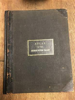 1891 BEERS RARE ATLAS OF THE HUDSON RIVER VALLEY ,
