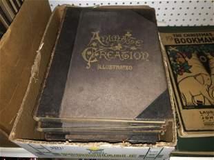 SET OF ANIMATE CREATION ILLUSTRATED, COPYRIGHT 1898,