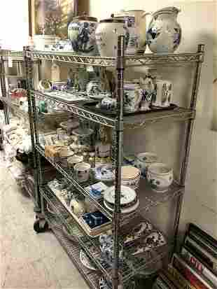 CART FULL OF OLD DELFT PORCELAIN CERAMICWARES FROM