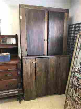 COUNTRY STEP BACK PINE CUPBOARD FROM HUDSON VALLEY