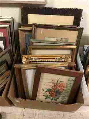 LOT OF 12 FRAMED PRINTS, PAINTINGS, ETC., FROM WEEKEND