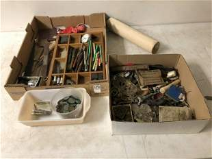 MISC ESTATE LOT OF COLLECTIBLES INCLUDING OLD FOUNTAIN