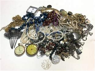 ESTATE LOT MISC. OLDER COSTUME JEWELRY AND RELATED,