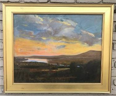SETH NADEL O/C ( VIEW OF THE HUDSON FROM OLANA ), IN