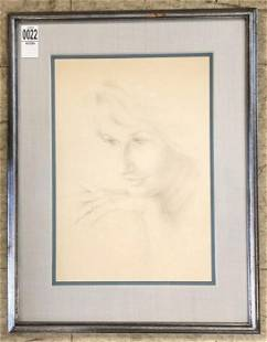 HUNTER MALLORY (1926-2014) PENCIL DRAWING OF A YOUNG