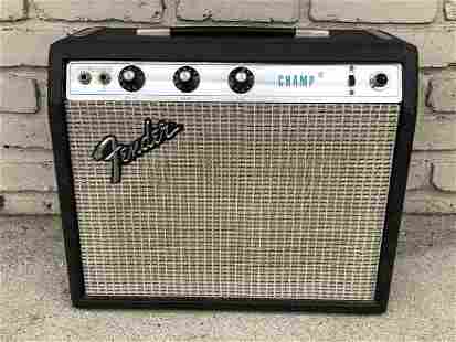 FENDER CHAMP AMPLIFIER FROM LOCAL ESTATE, HE KEPT HIS