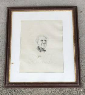 J COMBET SIGNED ENGRAVING OF MARC CHAGALL, NO. 20 OF