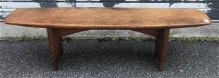 MID CENTURY DANISH MODERN COFFEE TABLE, MARKED WITH