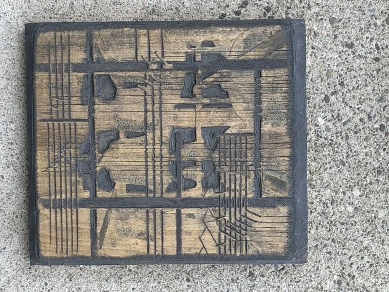 GUSTAVE BAUMANN (1881-1971) WOODBLOCK TITLED CARILLION