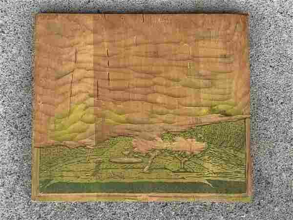 GUSTAVE BAUMANN (1881-1971) WOODBLOCK TITLED RAINY DAY