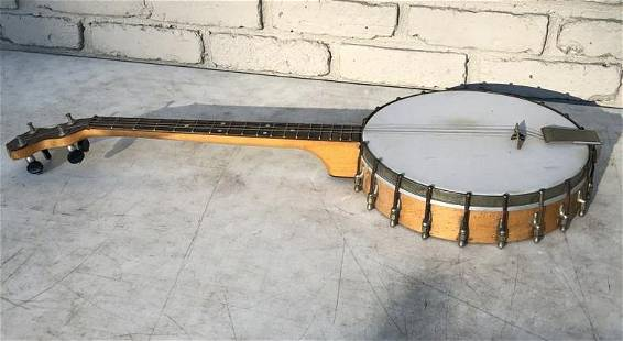VINTAGE BANJO FROM LOCAL ESTATE, CAN'T MAKE OUT NAME,