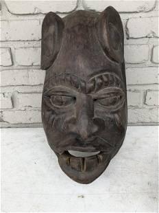 OLDER AFRICAN CARVED MASK, ORIGIN UNKNOWN, FROM ESTATE