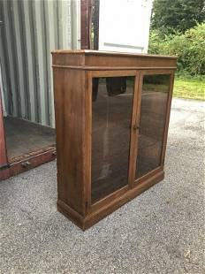 DOUBLE DOOR BOOKCASE FROM LOCAL ESTATE, HAS 3