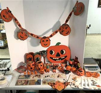 LARGE VINTAGE HALLOWEEN COLLECTION FROM LOCAL ESTATE,
