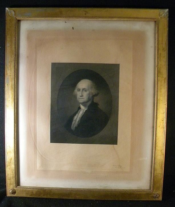 297A: WILLIAM E MARSHALL STEEL ENGRAVING OF GEORGE WASH