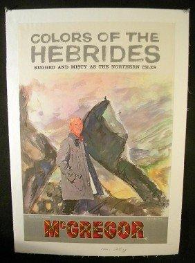 5: VINTAGE POSTER- McGREGOR MEN'S CLOTHING CIRCA 1953 M