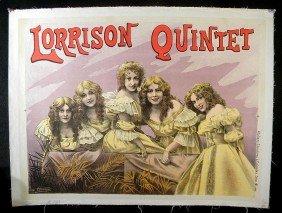 VINTAGE POSTER- CIRCA 1890'S THEATRE LORRISON QUINT