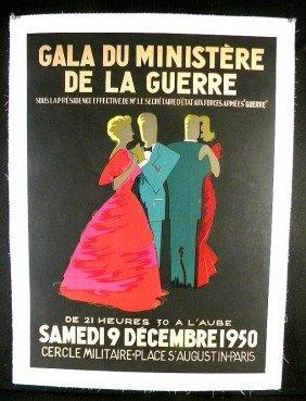 16: VINTAGE POSTER-GALA DU MINISTERE DE LA GUERRE, 1950