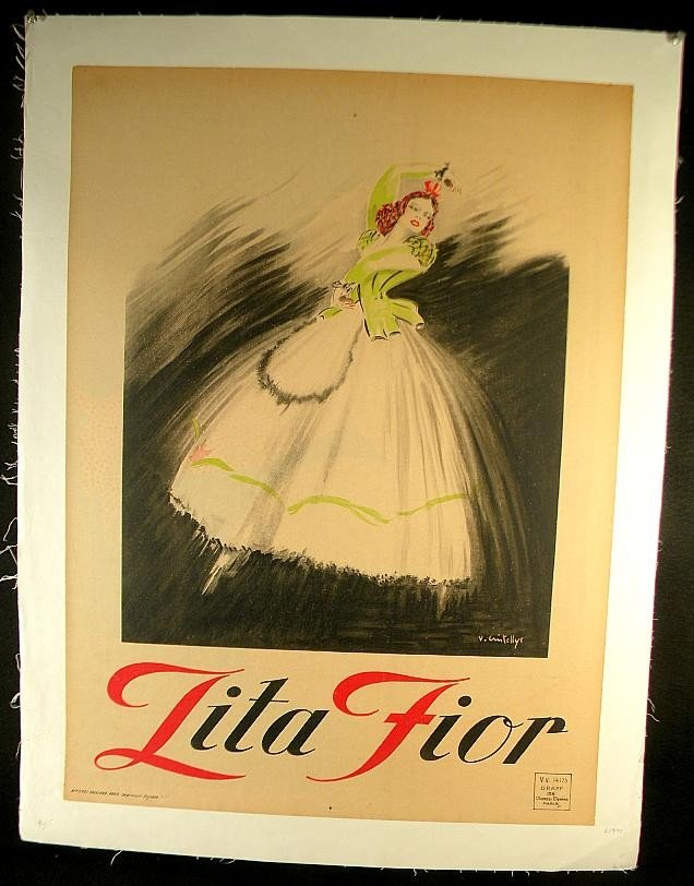 21: VINTAGE POSTER-FRENCH THEATER TITLED LITA FIOR, CIR