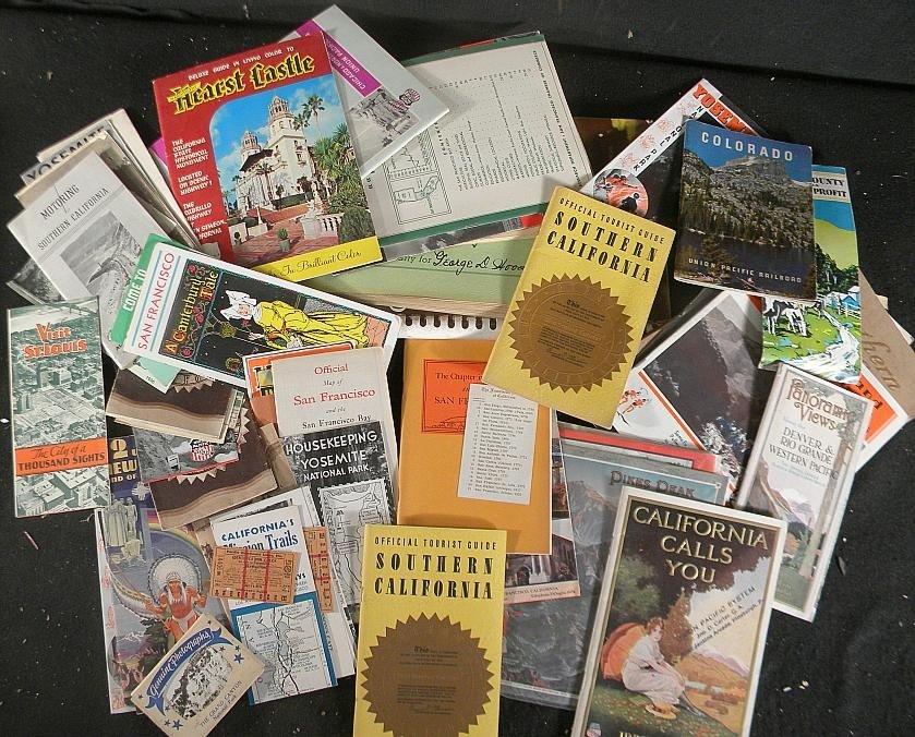 615: BOXLOT TRAVEL BOOKLETS, GUIDES PHOTOGRAPHS, ETC