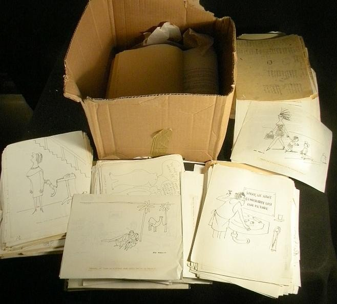 88: Ed Arno New Yorker Mag. Archives Boxlot Of Material