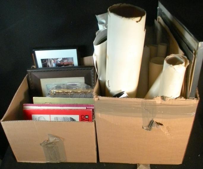 93: Ed Arno 2 Boxes Of Drawings & Personal Photos Estat