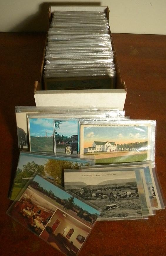 1: BOX OF OLDER MIXED POSTCARDS NY STATE & OTHERS
