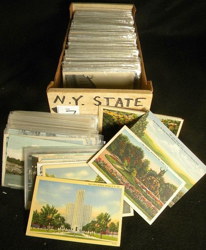 7: BOXLOT OLDER NEW YORK STATE POSTCARDS