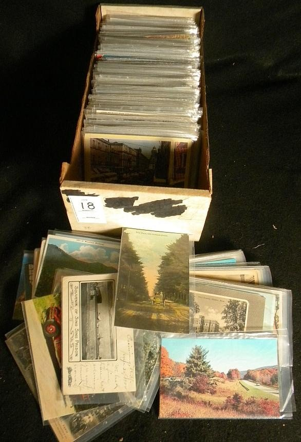 18: POSTCARDS OLDER BOXLOT UNITED STATES TOPICAL