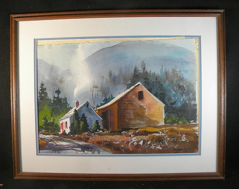 15: Richard Ochs w/c House and Barn w/Mountain Backgrou