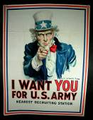200: WWI Poster Uncle Sam by Flagg 1917
