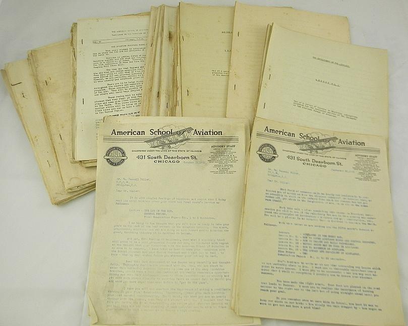 235: American School of Aviation Ephemera 1918-19