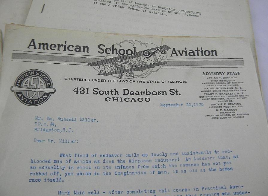 235: American School of Aviation Ephemera 1918-19 - 2