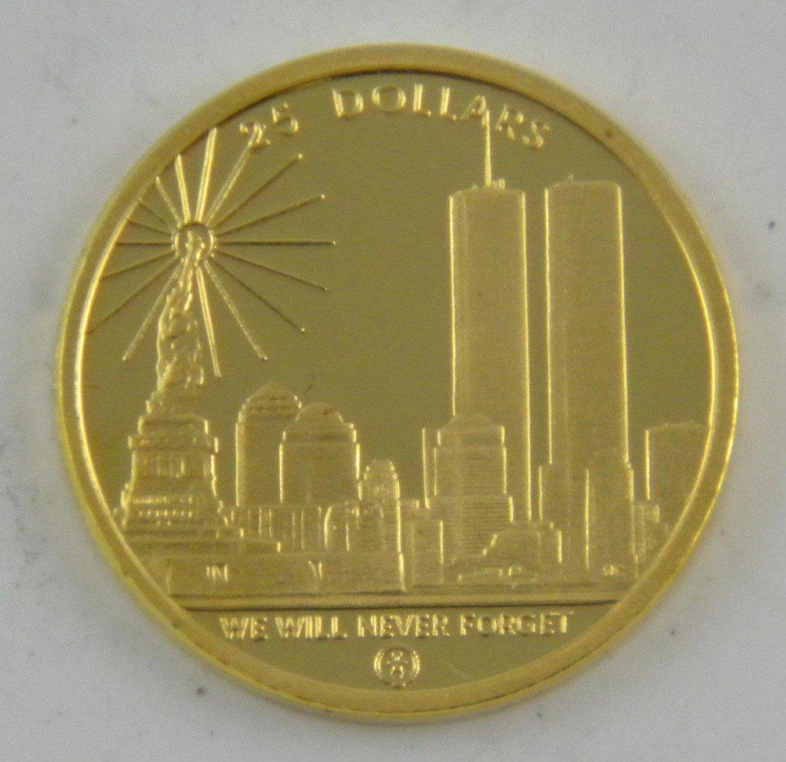 16A: 9/11 Commemorative 1/4 Ounce Coin Mariana Islands