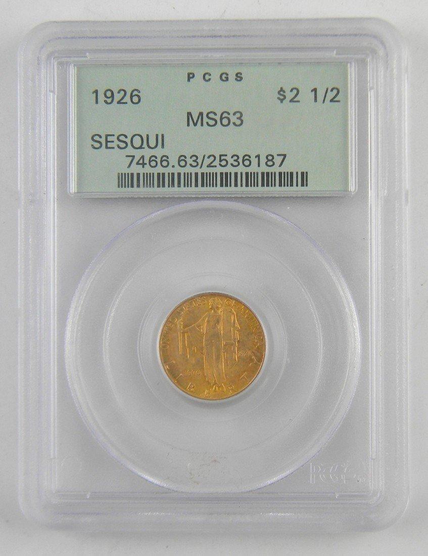16B: 1926 SESQUICENTENNIAL $2.50 GOLD Coin MS63